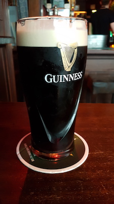 A pint of Guinness in Temple Bar, Dublin